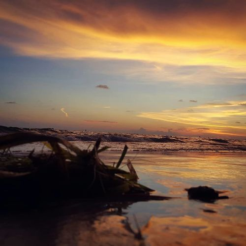 Water Sea Sky Beach Sunset Nature Scenics - Nature Cloud - Sky Travel Destinations Coastline Travel Ocean Mexican Bay Florida Sunset
