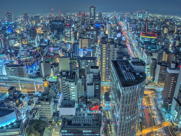 Night view of Osaka city center ASIA Japan Nightphotography OSAKA Aerial View Architecture Building Building Exterior Business Area City City Life Cityscape Corporate Business Crowded Futuristic High Angle View Illuminated Landscape Modern Night Night View Outdoors Skyscraper Travel Destinations Urban Skyline EyeEmNewHere