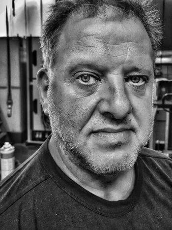 Portrait Looking At Camera Headshot Front View Human Face Close-up Friend Thinking Iris - Eye