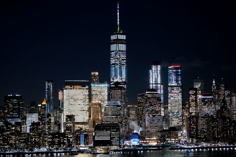 Famous Building at New York City Manhattan NYC NYC LIFE ♥ NYC Photography NYC Street NYC Street Photography NYC Skyline Night Life Neversleep Neversleeps Night Nycalive One World Trade Center