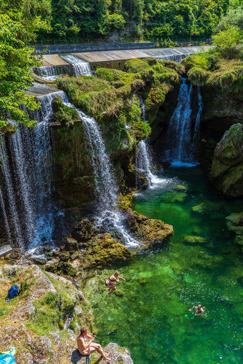 Traunfall Beauty In Nature Blurred Motion Downloading Falling Water Flowing Water Forest Land Long Exposure Motion Nature No People Oberösterreich Outdoors Plant Power In Nature Rock Rock - Object Scenics - Nature Solid Stream - Flowing Water Tree Upperaustria Water Waterfall