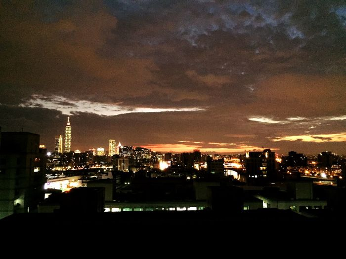 night views Architecture Building Exterior Built Structure Illuminated City Sky Night Cloud - Sky High Angle View