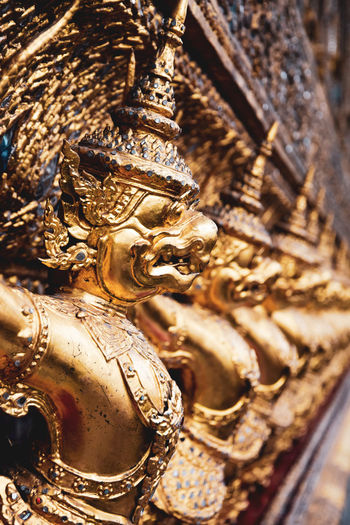 bangkok temple Budism Sculpture Belief Religion Spirituality Art And Craft Statue Architecture Metal No People Human Representation Craft Gold Colored Built Structure Creativity Representation Place Of Worship Building Ornate Carving Bangkok Temple EyeEm Best Shots EyeEm Selects EyeEm Gallery