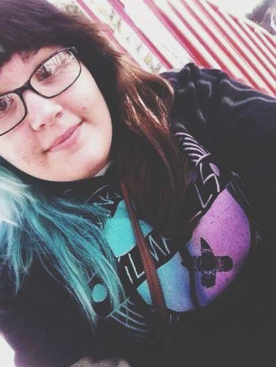 selfie Dyed Hair Blue Hair Half Dyed Selfie