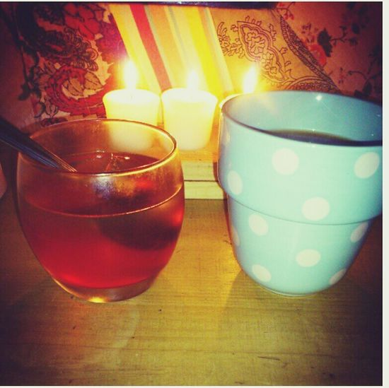 goodnight<3 Taking Photos Tea Candlelight Too Many Emotions