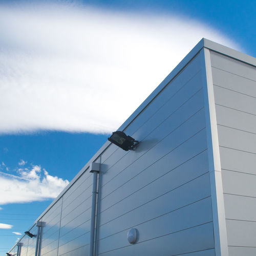 Summer sky & industrial building Architecture Bayonne France Blue Building Built Structure City Cloud Cloud - Sky Day Exterior High Section Low Angle View Modern No People Office Building Outdoors Part Of Sky Sunny Tall Tall - High Urban Geometry White Premium Collection Minimalist Architecture The Graphic City