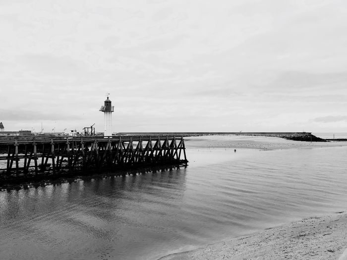 Trouville-sur-Mer B&W By AntoBrass Sky Water Beach Land Sea Nature Sand Cloud - Sky Beauty In Nature Day Tranquil Scene Architecture Built Structure Outdoors