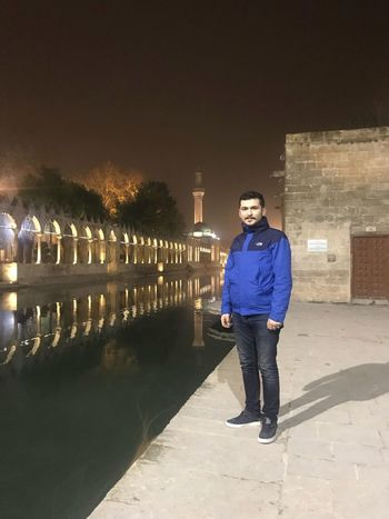 Şanlıurfa Winter Water Fishing Fish Fly Night Full Length Portrait Young Adult Looking At Camera Architecture Real People Young Men One Person Standing Illuminated Architectural Column Outdoors Travel Destinations Lifestyles Building Exterior Young Women Sky People