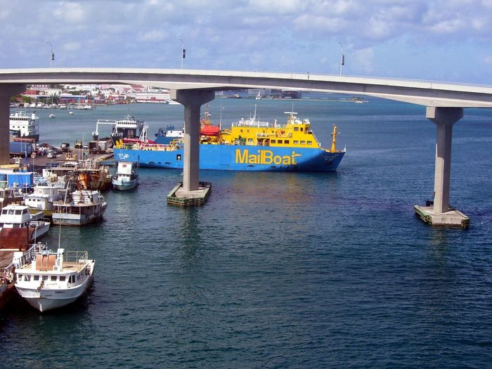 Beauty In Nature Boat Boats Bridge Cloud - Sky Day Harbor Harbour View Mail Boat Mode Of Transport Nature Nautical Vessel No People Outdoors Scenics Sea Shipping  Sky Transportation Water Waterfront