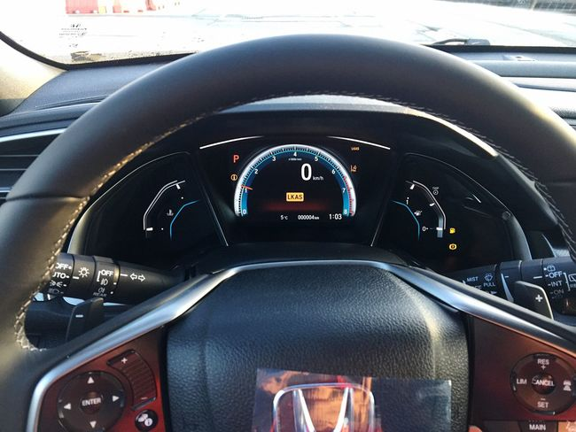 Car Dashboard Vehicle Interior Car Interior Transportation Gauge Mode Of Transport Steering Wheel Land Vehicle Speedometer Cockpit Close-up Control Panel New Honda Civic Transportation New Civic 2017 3XSPhotographyUnity 3XSPUnity Luxury Modern Fun To Drive Indoors  No People Day Piloting