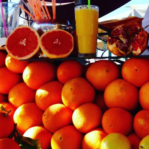 Orangejuice Cedros Orange Color Marrakech Marocco