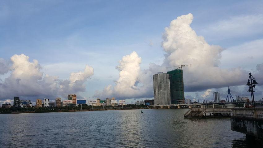 River clouds ... Han River, Da Nang, Vietnam. Architecture Sky Vietnam Đà Nẵng Bridges Apartments Towers Clouds Han River