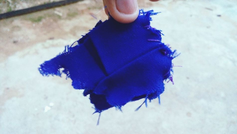 Blue Indoors  Textured  Textile One Person Adults Only People Only Women Close-up One Woman Only Adult Day