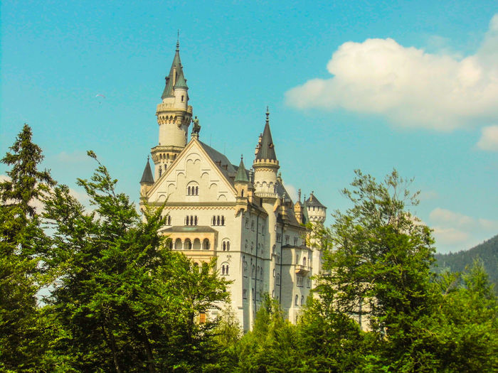 Architecture Bavaria Blue Sky And Clouds Building Exterior Castle Clouds Culture Famous Place German Germany History Medieval Outdoors Sky Tourism Travel Travel Destinations