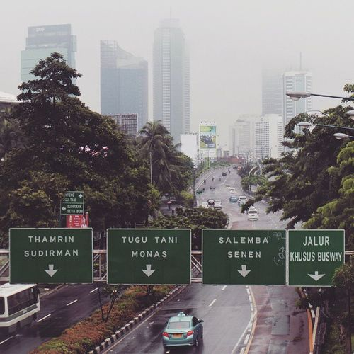 Traffic to the Downtown of Jakarta from Rasunasaid today.