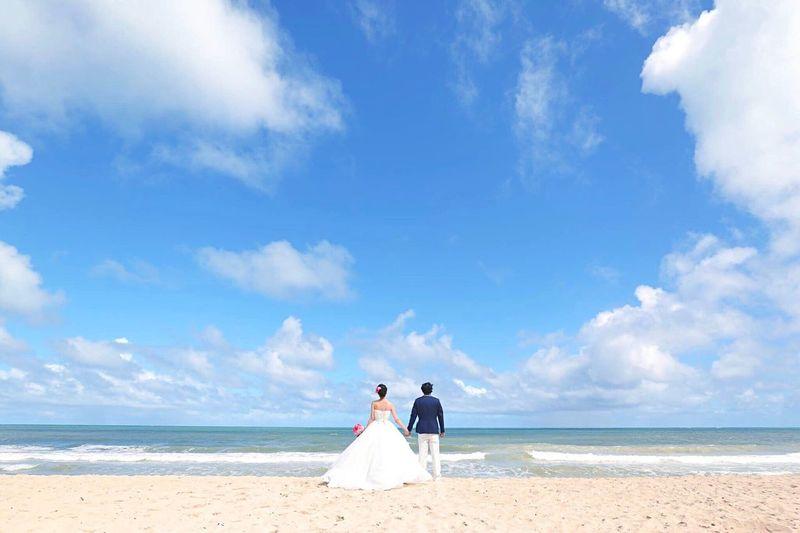 Honeymoon Wedding Photography Waimanalo Beach Oahu Hawaii USA Sea Sky Beach Water Wedding Celebration