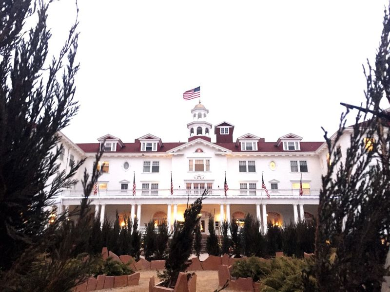 I haven't shut up about this hotel for months. I'm so excited Stanley Hotel The Shining Stephen King Estes Park, CO Outdoors Haunted Bucket List Adventures Hotel Maze