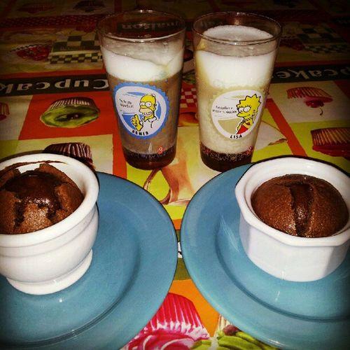 Latte Machiatto caramel et fondant au chocolat praliné maison Goûter
