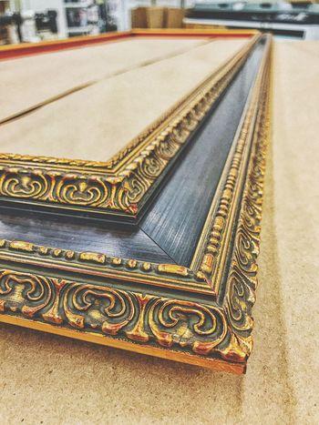 Framing... No People Close-up Outdoors Day Frame Frame It! Framed Moulding Wood Red Gold Guilded