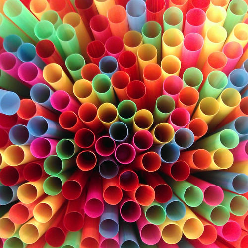 Full frame shot of multi colored tube.
