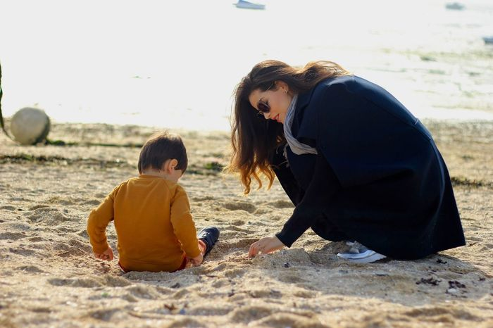 Proudmommy Proudmum Maman Babyboy LaMer Sea And Sky Mar Saintmalo Arena Sand Sable Canon