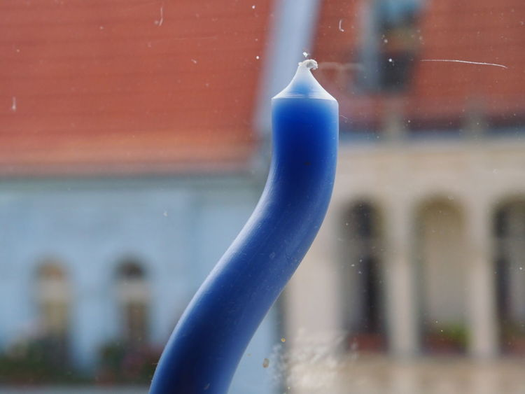 Selective Focus Candle Roof The Purist (no Edit, No Filter) Hot Day Melting City Life Looking Through Window Blue Close-up