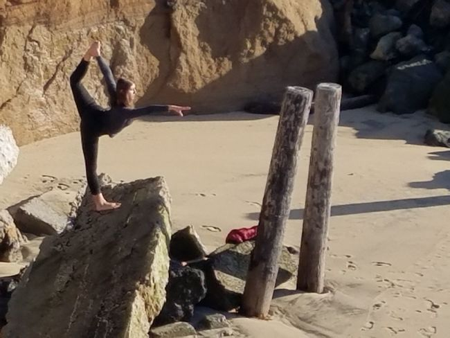 Fine Art Photography Yoga On The Beach Pose Woman Beach Leisure Activity Check This Out Pattern Texture Shape Design Sunlight Togetherness Meditation Copy Space Beauty Athletic Beauty In Nature Coastal Feature High Angle View Girl Relaxing