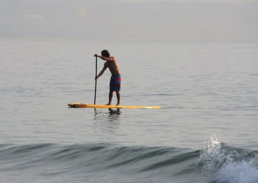 Blue Wave Day Enjoyment Fun Times Leisure Activity Outdoors Paddle Paddleboarding Surfers Vacations Water