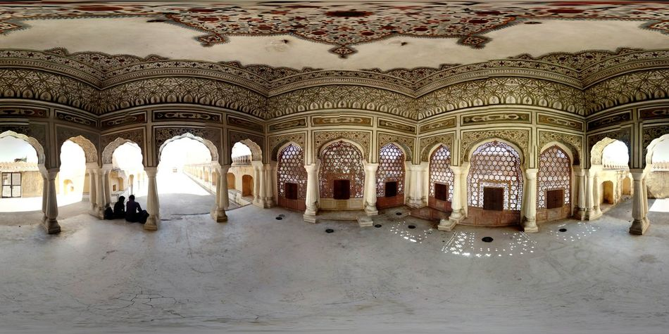 In Hawa Mahal .... Urban 4 Filter Mobile Photography 360 Panorama Historical Place AI Now