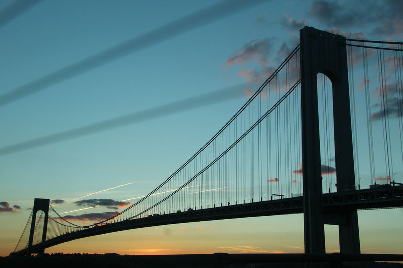 #Blue #bridge #NewYork  #NYC #shillouette #sky #sunset #view Verrazano Bridge