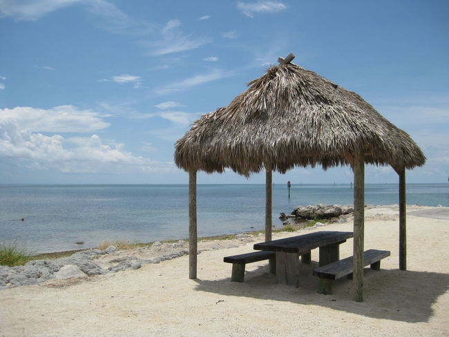 Beach Beauty In Nature Day Horizon Over Water Nature No People Outdoors Sand Scenics Sea Sky Sunlight Thatched Roof Tranquil Scene Tranquility Vacations Water