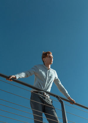 Myroslav #19 The result of a spontaneous hour-long shoot during the first meeting with the person, Hot Summer Day Redhead Sailing Ship The Week on EyeEm TheWeekOnEyeEM Clear Sky Lifestyles Nature Sailboat Sailing Sailing Boat Standing Sunlight Sunny Yacht Yachting Yachtlife Young Adult