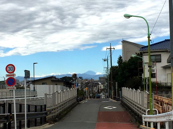 Architecture Building Exterior Sky Cloud - Sky Built Structure Transportation Day Street Light Outdoors Road City Real People Mt,Fuji Japan Photography Japan