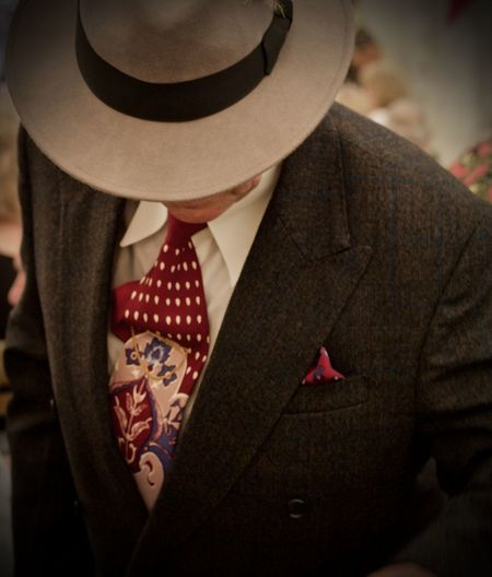 1940's 1940's Imaginery 1vintage Man Man In A Suit Period Costume Tie Unrecognizable Person People And Places