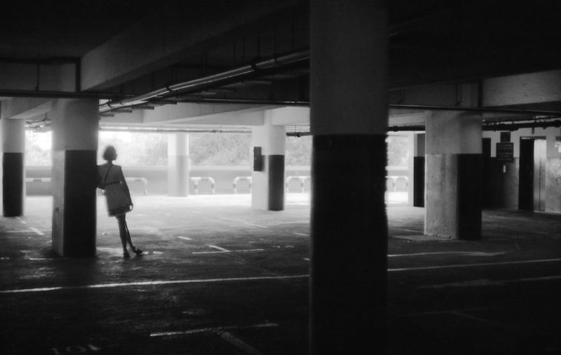 Acros100 Architecture Blackandwhite Carpark Column Film Lonely Push Showcase April Silhouette Summarit5cm