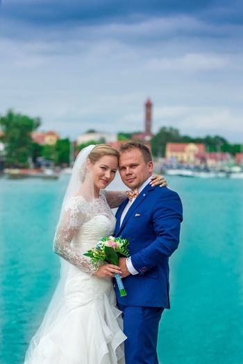 Wedding Bride Love Togetherness Celebration Bridegroom Wedding Dress Two People Young Adult Young Men Men Happiness Heterosexual Couple Life Events Real People Young Women Wife Mimolajki POLAND Women Celebration Event Married