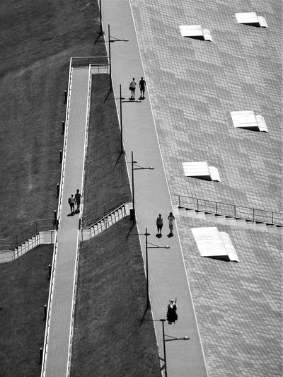 Urban_geometrics High Angle View Black And White monochrome photography Outdoors Architecture Lines, Shapes And Curves The Graphic City Stories From The City A New Perspective On Life