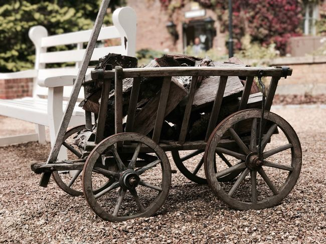 Vintage life Logs Transportation Wheel No People Nature Day Cart Mode Of Transportation