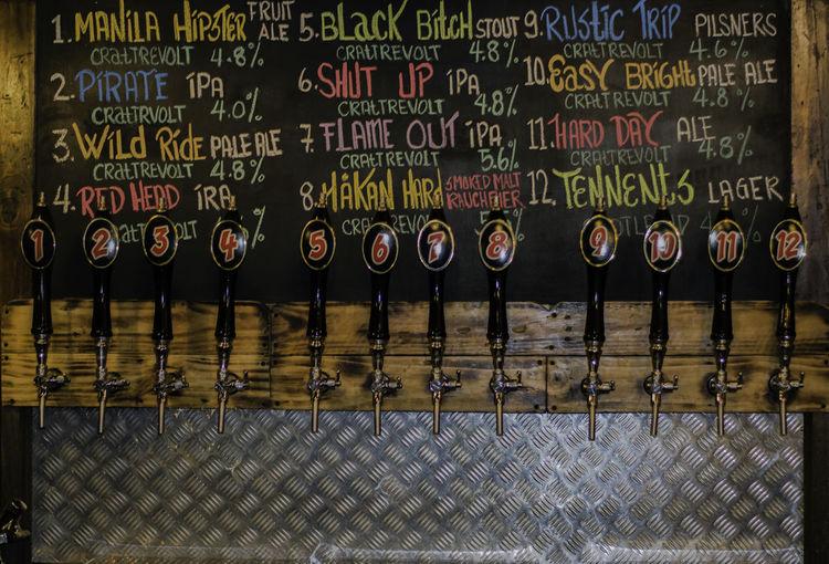 Choose your poison Bar Beer Chilling Drinks Enjoying Life Eye4photography  EyeEm Gallery Eyeem Philippines Resto Snapshot Tap Beer