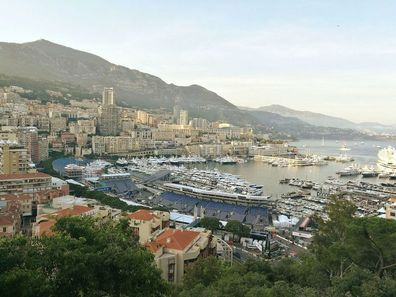 The 75th MonacoGP before the first free practice a couple of days ago. View from the Castle, which is closed during the race. Such a charming city! Formula1 Monaco Grand Prix French Riviera Monte Carlo