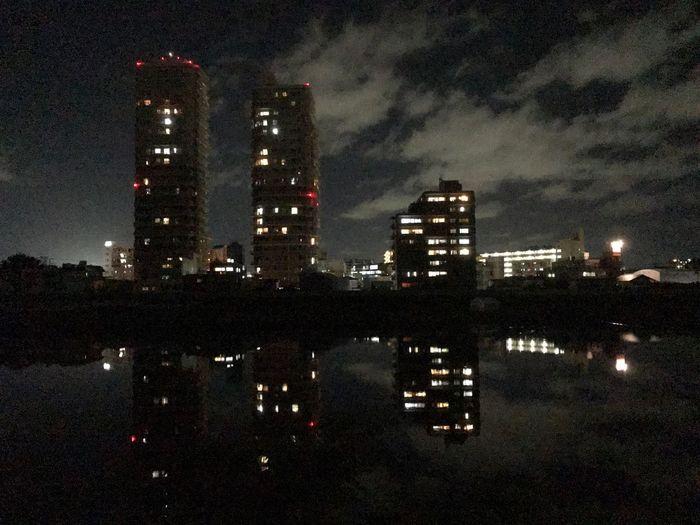 河原町 広瀬川 Night Illuminated Building Exterior Architecture Built Structure City Sky No People