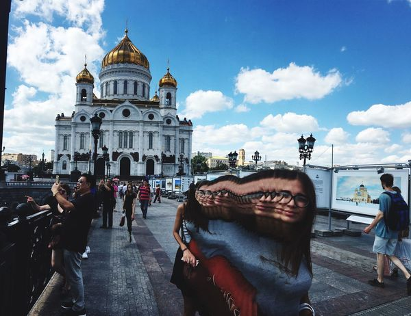View View Of The City Church Moscow Cathedral Cathedral Of Christ The Savior 43 Golden Moments Scenery Unusual Showcase July