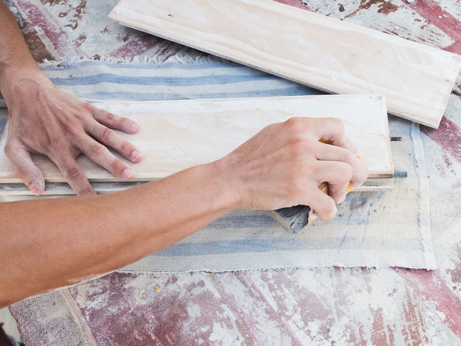 Carpenter Hands At Work Human Body Part Human Hand Lifestyles Man Person Real People Wood Woodworking Working