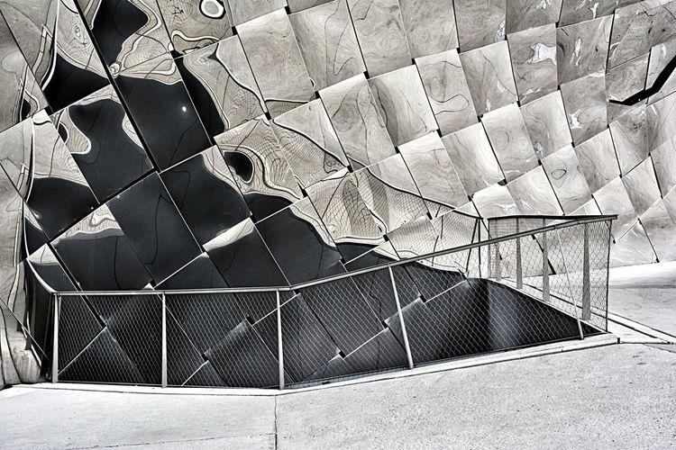Architecture detail of the Paris Philarmony 🇫🇷 Patern Paris, France  Built Structure Building Exterior Architecture Paris Modern No People Reflection Outdoors Full Frame Geometric Shape Detail Square Shape LINE Architectural Detail Metal Grate Pattern Textured  Rectangle Triangle Backgrounds