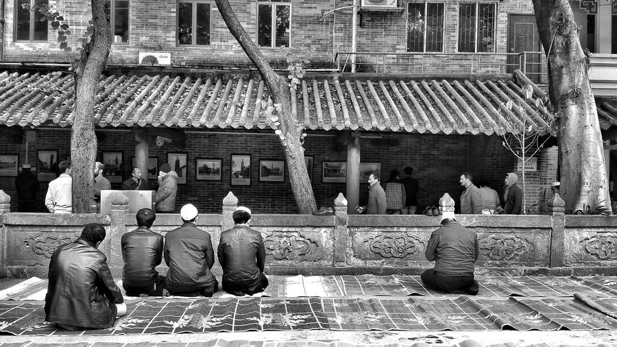 The Moment - 2015 EyeEm AwardsFrom the back, after Friday Prayers at Huangsheng Templeor Mosque Guangzhou China. Muslim Monochrome Monochrome Photography
