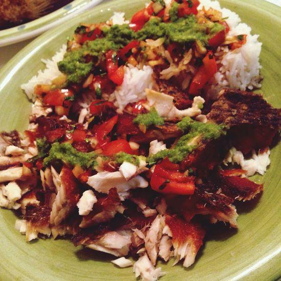 So yummy! Dinner Talapia In My Mouf Yummy