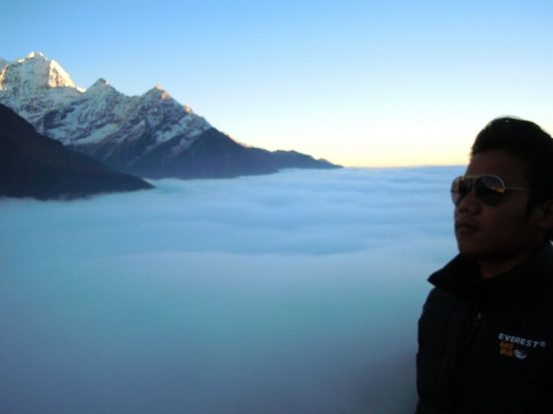 Above The Clouds Enjoying Life Beautiful View Me