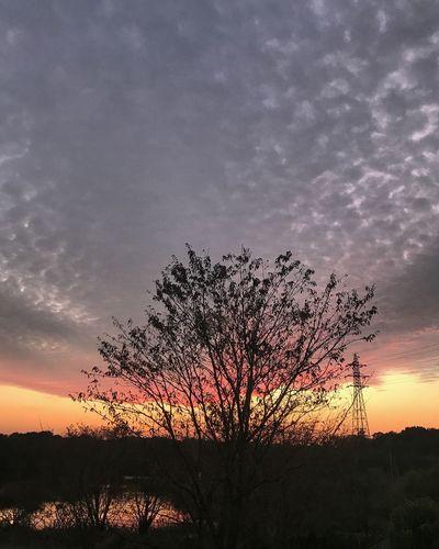 上野沼からの夕焼け雲