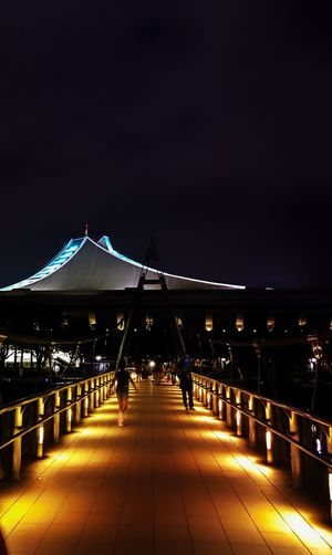 This quotes carries good night wishes for my sweetest friends who looking at it. Good night my all sweetest friends! Night Illuminated Bridge - Man Made Structure Built Structure Architecture Outdoors No People Sky