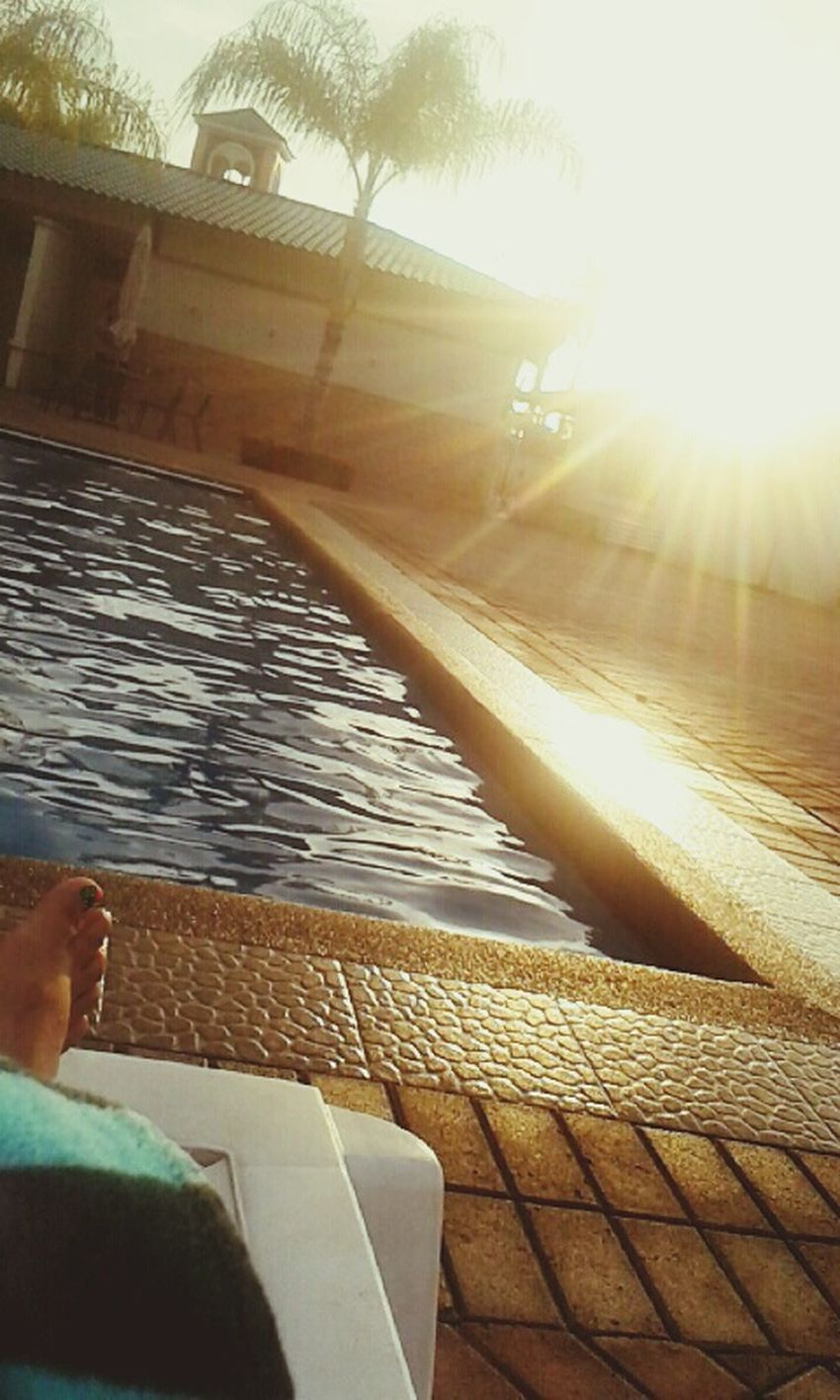 My favorite place, pool time and sunset. Relaxing Enjoying Life Cheese!